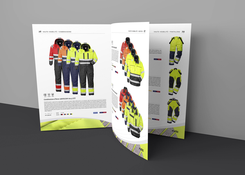 Page vêtements de sécurité du catalogue Wydler