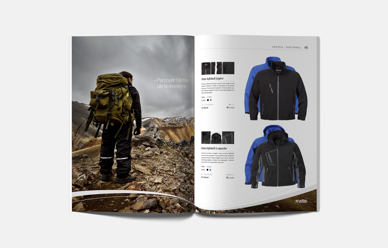 Page vêtements de randonnée du catalogue Wydler