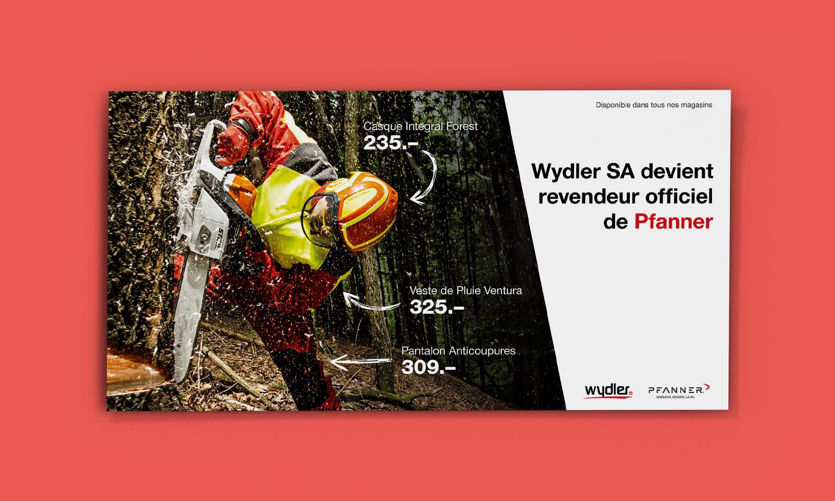 Flyer Wydler pour la marque Pfanner