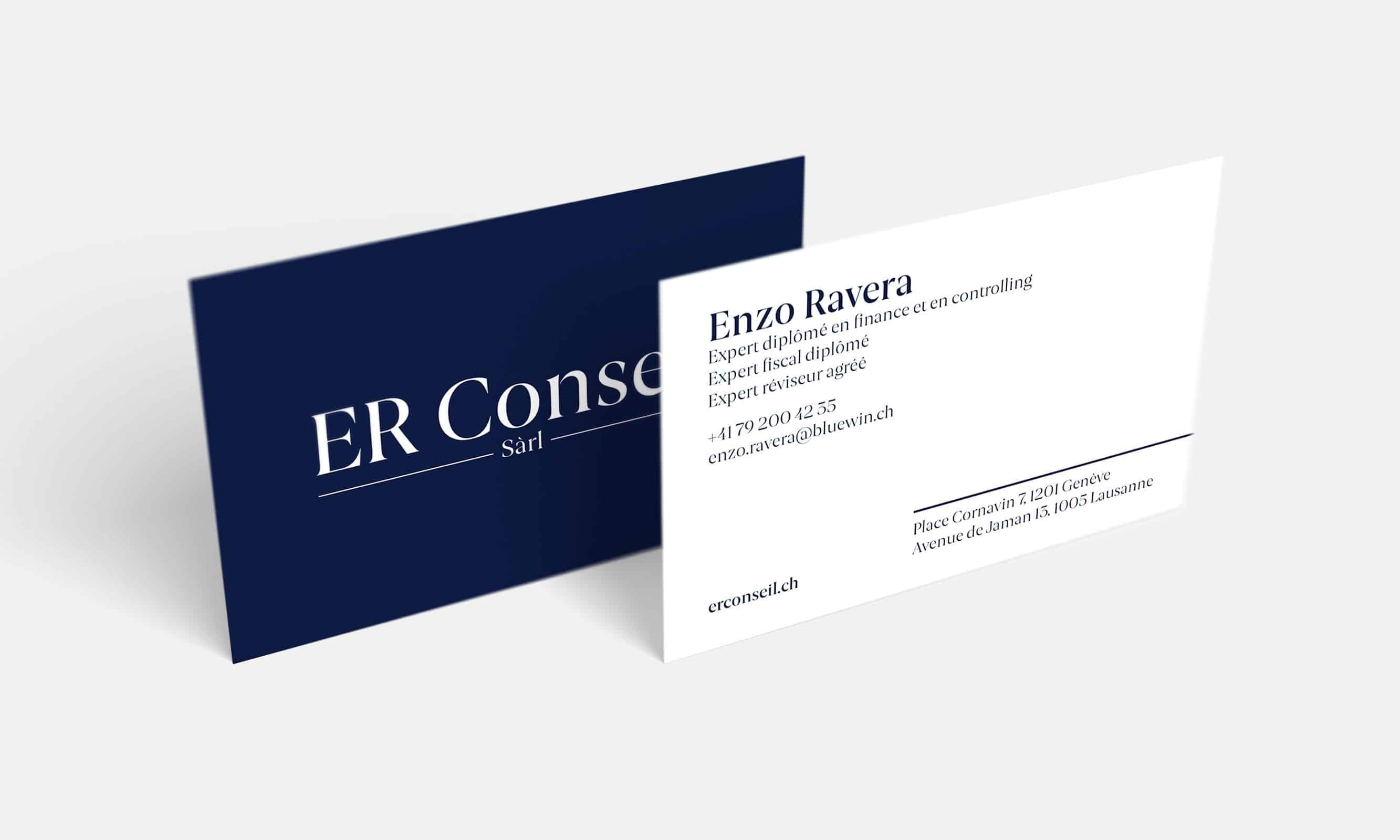 Cartes de visite ER Conseil