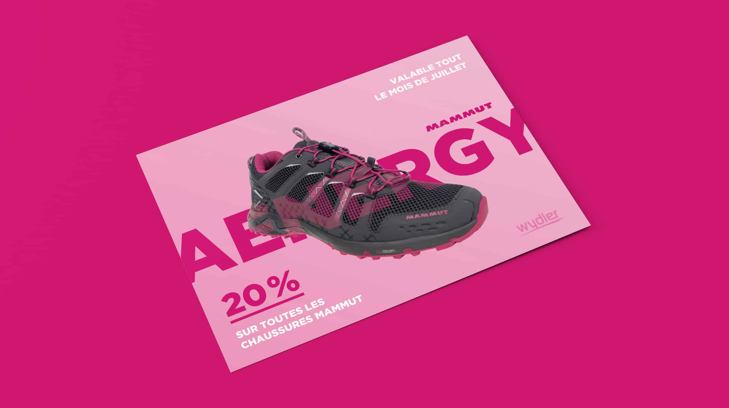 Flyer rose pour les chaussures Mammut Aenergy