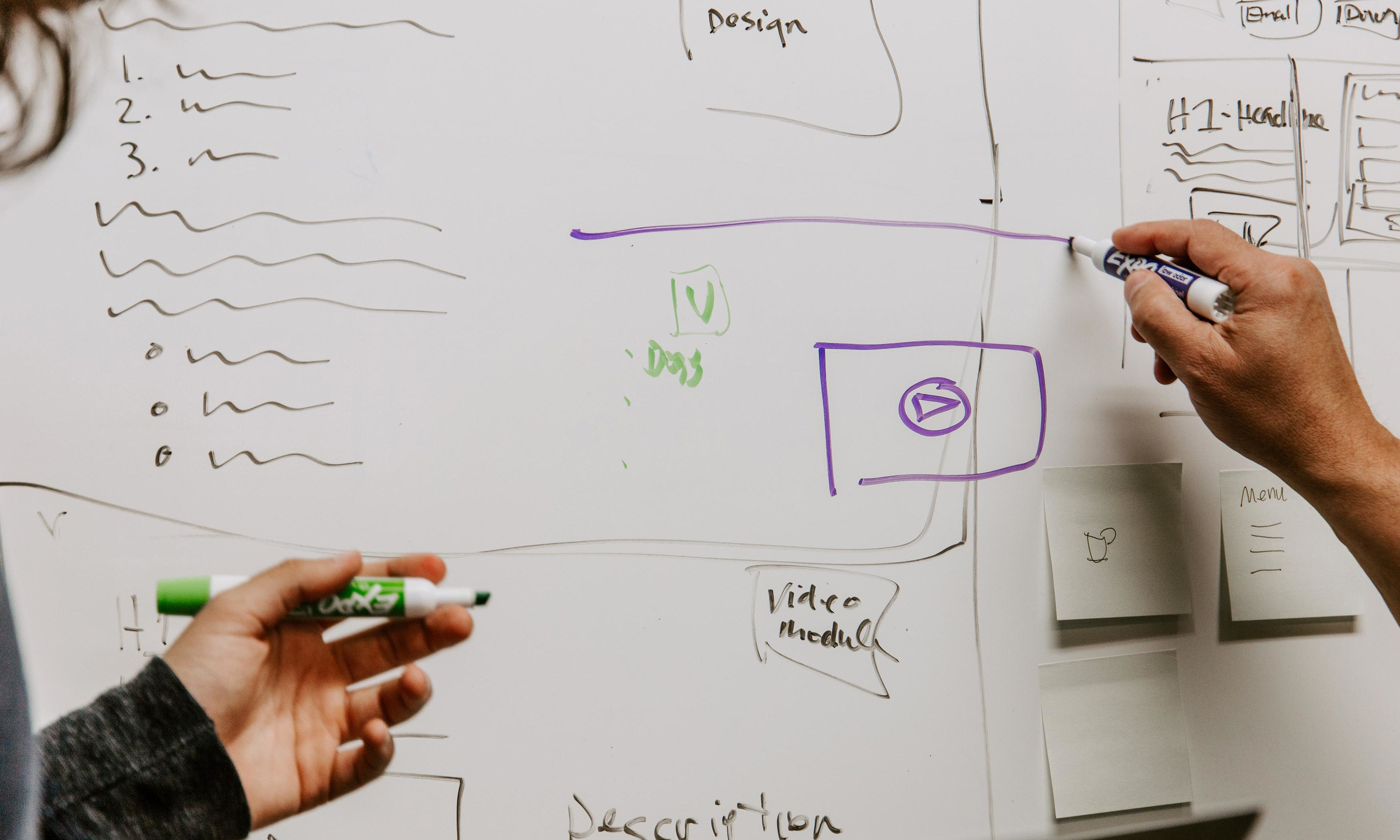 Whiteboard pour créer un site internet