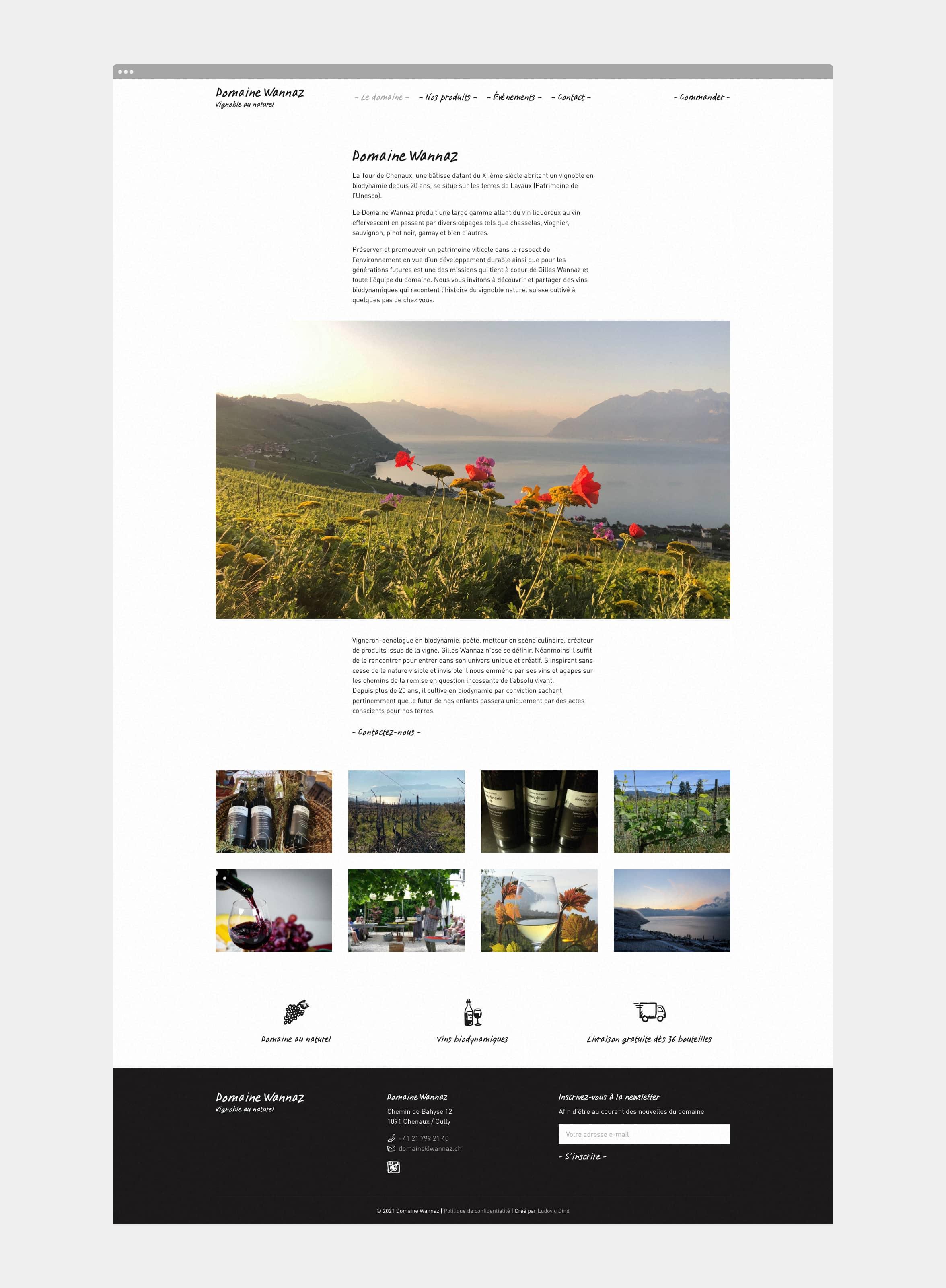 Page Le domaine du site Domaine Wannaz