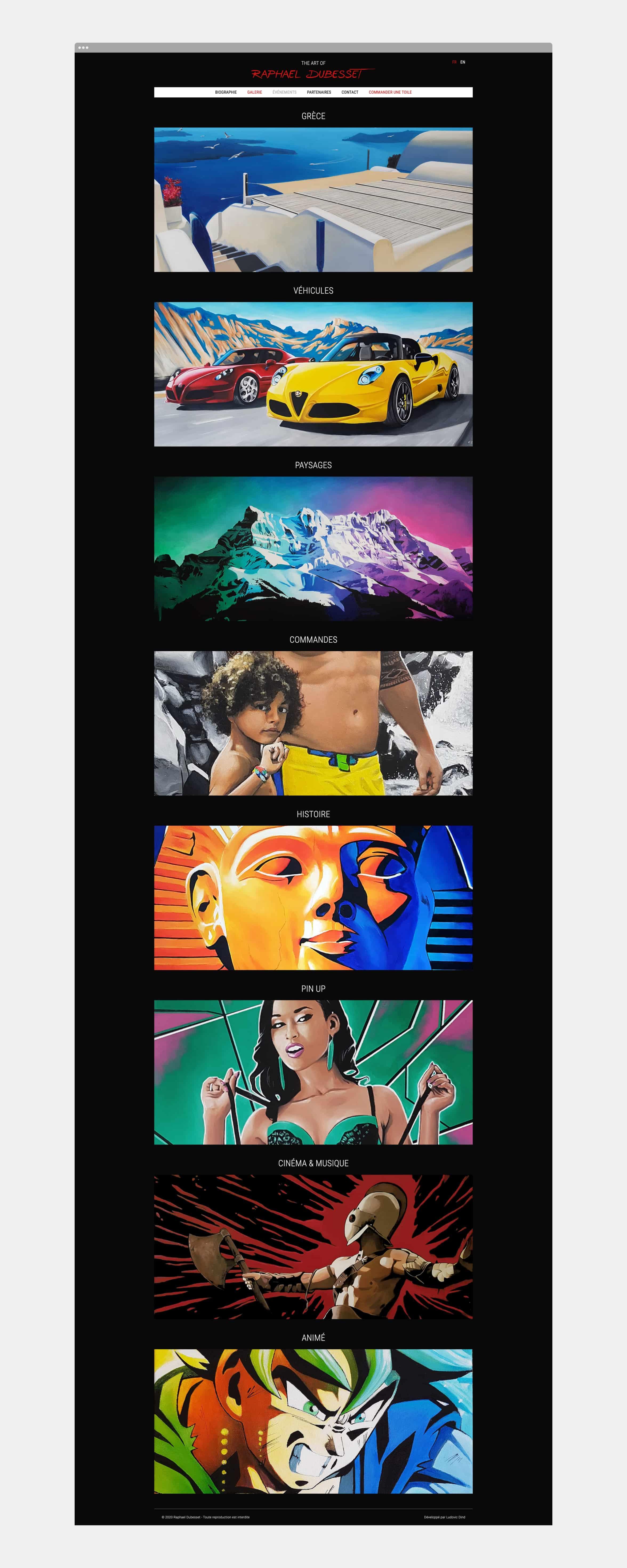 Page des peintures du site