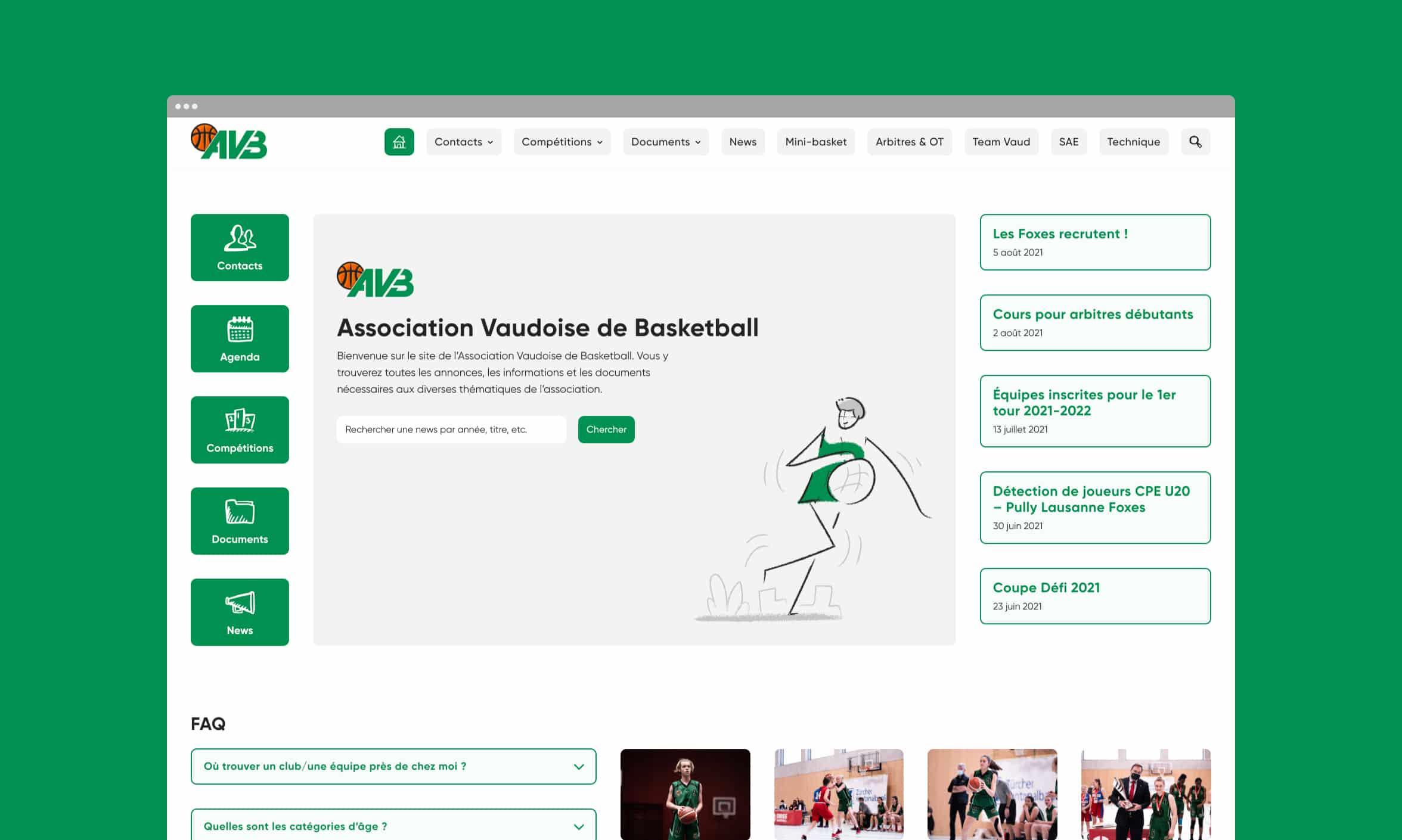 Vignette du site de l'AVB