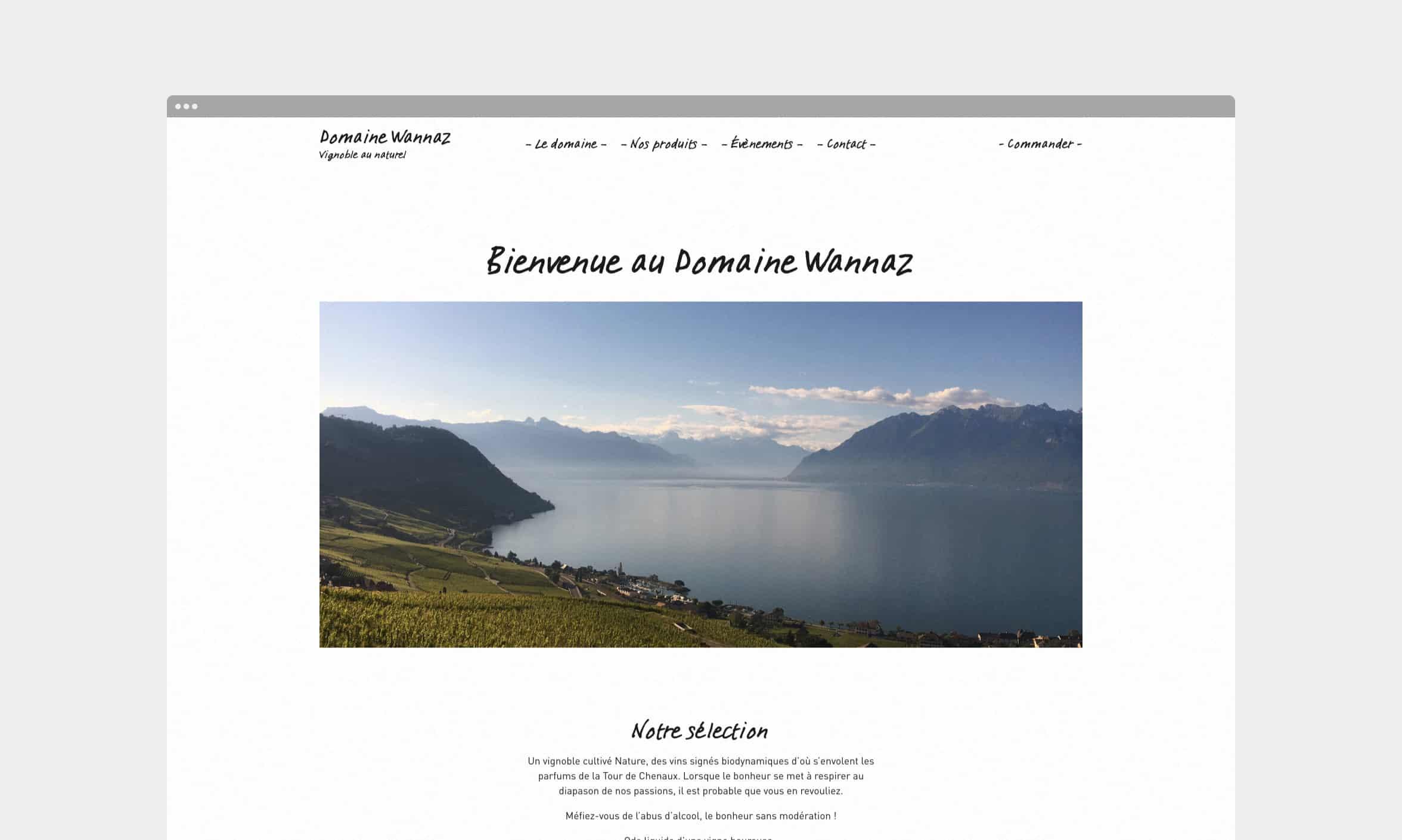 Vignette du site Domaine Wannaz