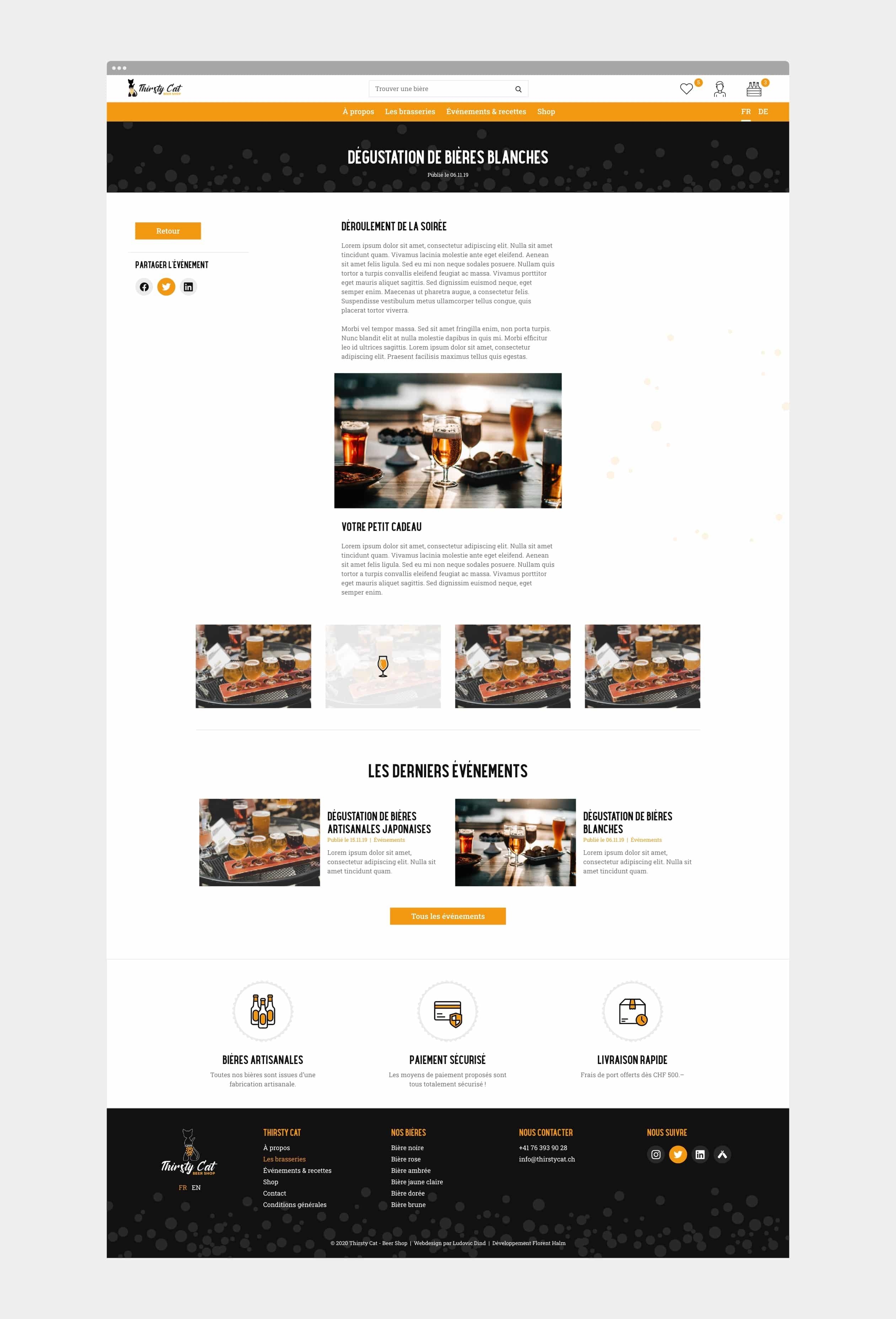 Page d'un article du site internet