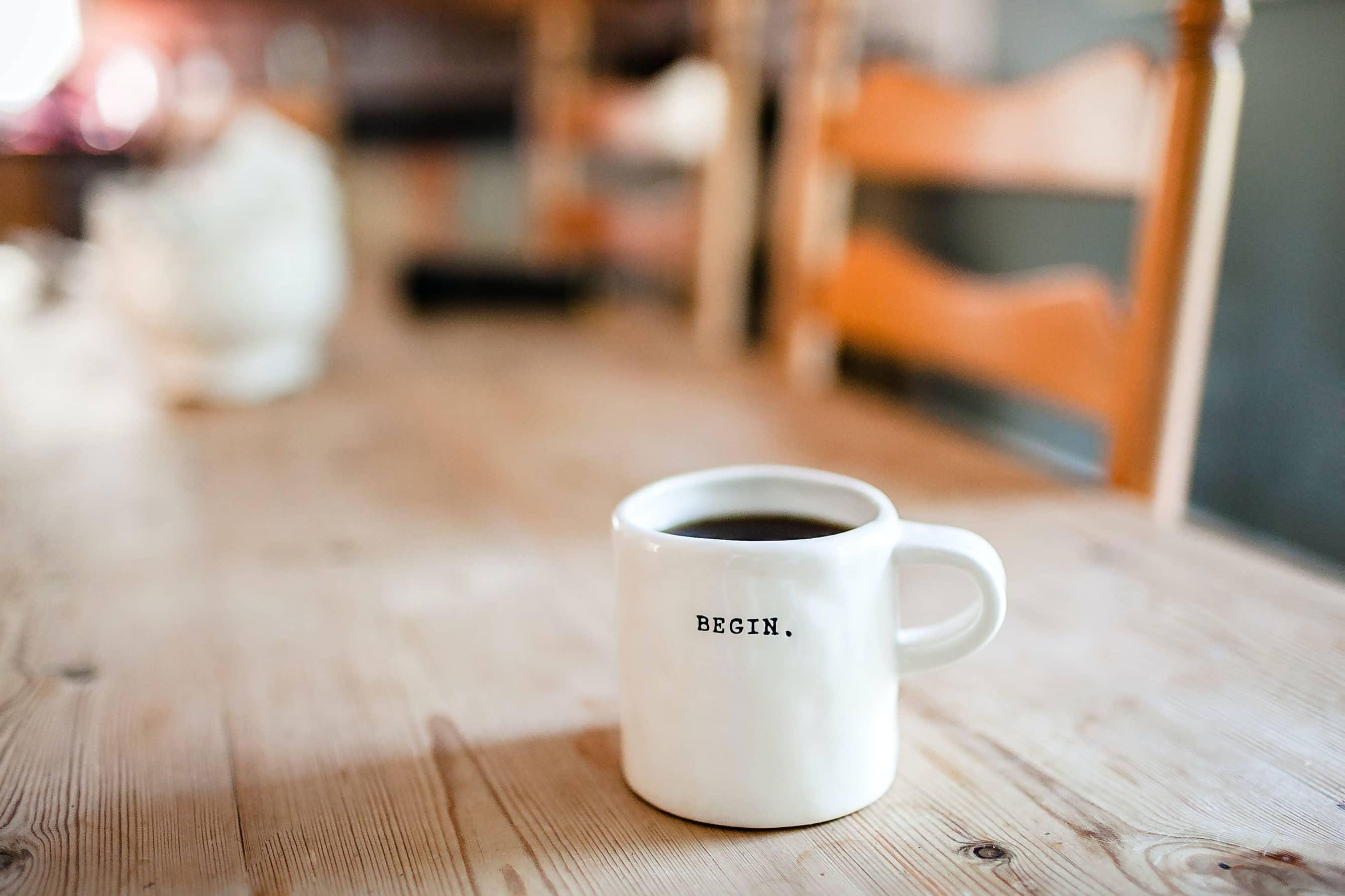 Café lors de la création d'un site e-commerce